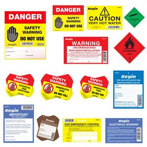 Gas Oil Danger Stickers
